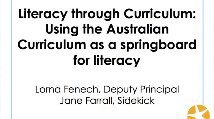 Literacy Through Curriculum: Using the Australian Curriculum as a Springboard for Literacy